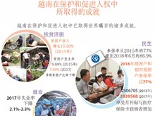 图表新闻:越南在保护和促进人权中所取得的显著成就
