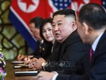 美朝领导人参加双方扩大会议(组图)