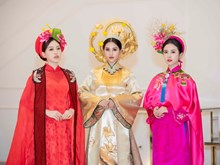 越南佳丽身穿宫廷奥戴 展示国粹服饰文化(组图)