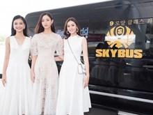"""2019年越南世界小姐前三名在新山一机场引起""""混乱""""(组图)"""