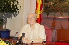 越共中央总书记阮富仲启程对美国进行正式访问