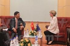 越南政府副总理兼外长同欧盟外交与安全政策高级代表和澳大利亚外长会晤