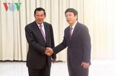 柬埔寨首相会见越南广播电台台长