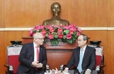越南祖国阵线中央委员会主席会见德国客人