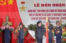 越南海警司令部荣获新时期人民武装力量英雄称号