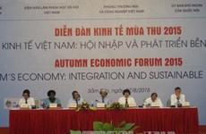2015年秋季经济论坛在越南清化省开幕
