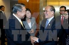 国会主席阮生雄会见日本国会众议院议长大岛理森