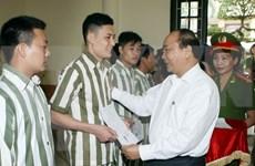 阮春福副总理出席河内市青春监狱2015年主席特赦令公布仪式