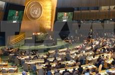 越南国会主席阮生雄出席第四次世界议长大会并发表演讲