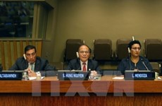 越南国会主席阮生雄共同主持第四次世界议长大会的专题辩论会