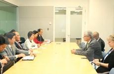 国会主席阮生雄会见第70届联合国大会主席吕克托夫特