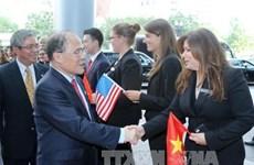 国会主席阮生雄访问美国马萨诸塞州波士顿市