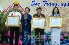 越南国家副主席阮氏缘出席朔庄省爱国竞赛大会