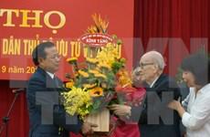河内市举行仪式庆祝劳动英雄武跳教授100岁寿辰