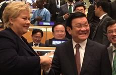 张晋创主席在联合国发展峰会框架内的密集活动