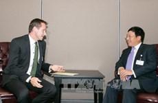范平明副总理兼外长分别会见保加利亚和丹麦外长