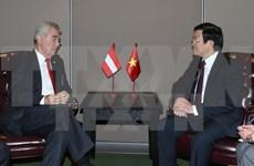 越南国家主席张晋创会见奥地利和智利两国总统