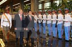越南国家主席与古巴国务委员会主席举行会谈