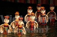 德国和俄罗斯皮影戏颇受越南清化省观众的欢迎