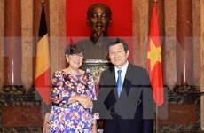 越南国家主席张晋创接见各国新任驻越大使