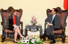 越南政府总理阮晋勇会见美国俄勒冈州州长凯特•布朗