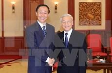 阮富仲总书记会见中国全国政协副主席、中联部部长王家瑞