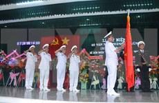 越南人民军海军五区司令部成立40周年纪念典礼在坚江省举行
