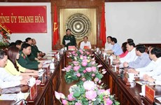 越南人民军总政治局主任吴春历大将赴清化省调研指导工作