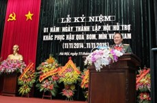 越南协助克服炸弹地雷后果协会成立一周年纪念典礼隆重举行