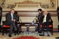 越南胡志明市人民委员会主席会见英国约克公爵安德鲁王子