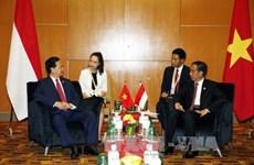 越南政府总理阮晋勇总理会见印尼总统和俄罗斯总理