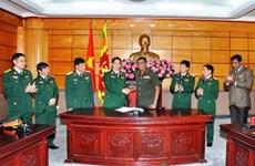 斯里兰卡愿为越南军事留学生提供奖学金