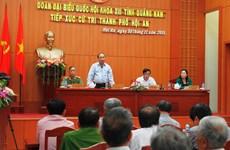 越南党和国家领导接触选民