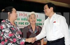 越南国家主席张晋创接触胡志明市选民