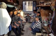 在阿尔及利亚的越南劳工举行罢工希望尽早回国