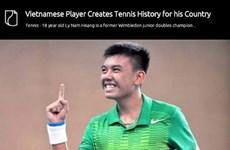 越南年轻网球运动员李黄南受到美媒赞扬