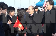 越南国会主席阮生雄到达北京开始对华进行正式友好访问