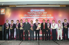 """2015年""""越南最受欢迎企业奖""""对35家企业予以表彰"""