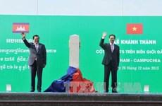 柬埔寨与越老泰三国的勘界立碑工作完成率达80%以上