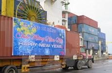 岘港市仙沙港口海防港迎来和拆卸首批货物