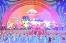 越南举行盛大文艺晚会 庆祝越共十二大取得圆满成功
