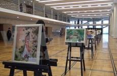 有关越南风土人情的画儿在俄罗斯克里姆林宫展示