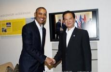 越南政府总理阮晋勇会见美国总统奥巴马