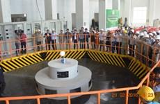 设在林同、得乐两省的克溶奴三号水电厂一号机组成功实现发电