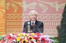 世界各国政党领导继续致电祝贺阮富仲再次当选越共中央总书记