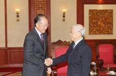 越共中央总书记阮富仲会见世界银行行长金墉