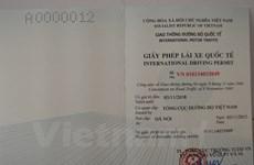 河内市和胡志明市正式签发国际汽车驾驶证