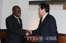 越南国家主席张晋创访问坦桑尼亚期间的活动