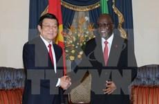 越坦发表联合公报 深信两国合作关系将继续在各个合作领域蓬勃发展