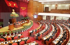 越共第十二届中央委员会第二次全体会议落下帷幕